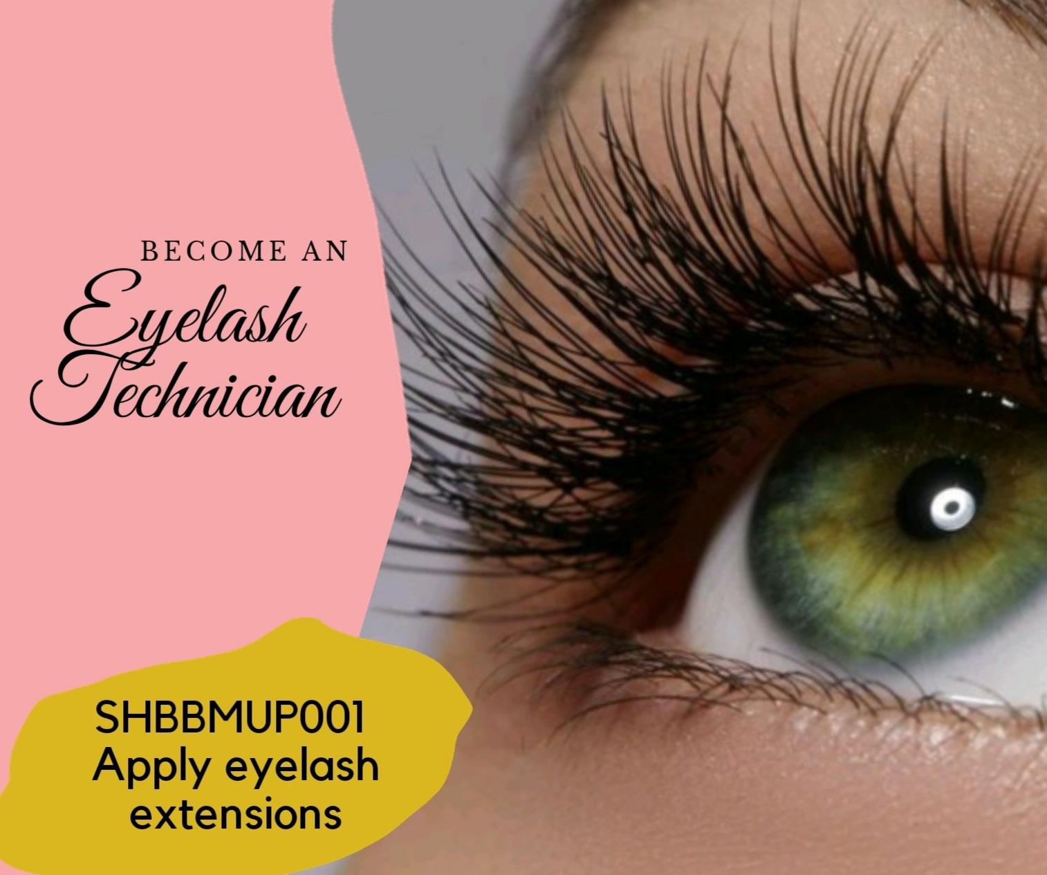 Apply eyelash extensions